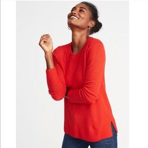 J. Crew • Red Cozy Crew- Neck Sweater